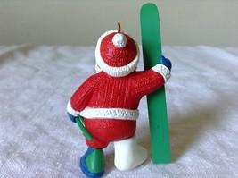 Hallmark Keepsake Ornament Christmas Break Santa has a Cast on Holding a Sled image 3