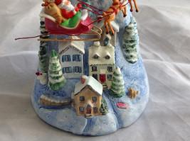 Hallmark Keepsake The Sleeping Village with Santa on Sled Ornament image 3