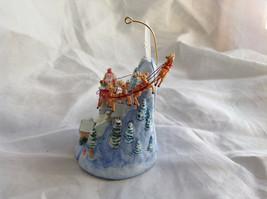 Hallmark Keepsake The Sleeping Village with Santa on Sled Ornament image 6