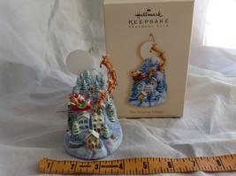 Hallmark Keepsake The Sleeping Village with Santa on Sled Ornament image 8