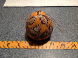 Hand Carved Art Ornament Peruvian Gourd with Leaves Eco Sustainable Fair Trade image 6