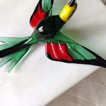 Hand Blown Hummingbird Bee eater Window Ornament  #5 in green red yellow image 7