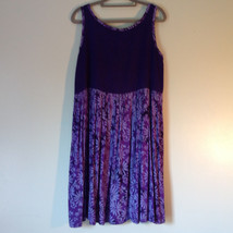 Hand Made Purple Sleeveless Dress Perfect for Summer Measurements Below image 5