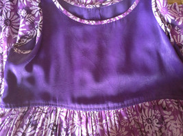 Hand Made Purple Sleeveless Dress Perfect for Summer Measurements Below image 8