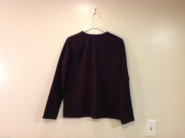 Lands End Dark Brown Fleece 100% Polyester Sweatshirt Sweater, Size L (14-16) image 2