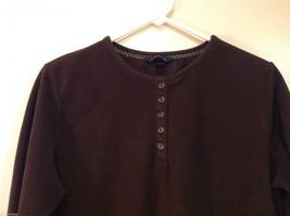Lands End Dark Brown Fleece 100% Polyester Sweatshirt Sweater, Size L (14-16) image 3