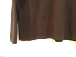 Lands End Dark Brown Fleece 100% Polyester Sweatshirt Sweater, Size L (14-16) image 4