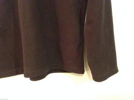 Lands End Dark Brown Fleece 100% Polyester Sweatshirt Sweater, Size L (14-16) image 5