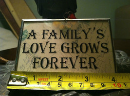"Large 2 sided Valentine's Day Charm ""A Family's Love Grows Forever"" w/ cupids image 7"