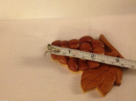 Hand carved wood grapes cluster  Refrigerator or other surface magnet image 2