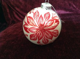 Large Christmas Ornament Peppermint Forest Pointsettia Design Department 56 image 2