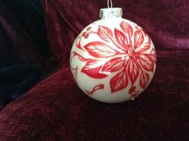 Large Christmas Ornament Peppermint Forest Pointsettia Design Department 56 image 3