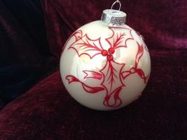 Large Christmas Ornament Peppermint Forest Pointsettia Design Department 56 image 4