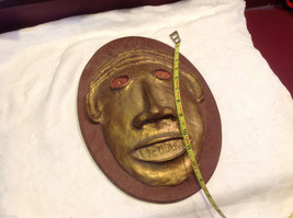 Hand made decorative wall art mask plaster cast and painted signed image 4