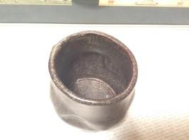 Handcrafted Artisan Made Ceramic Dark Brown Cup Mug Speckled Glaze image 5