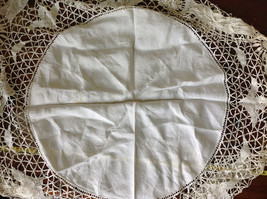 Large Circular Off White Doily Creative Design 31 Inches Across image 6