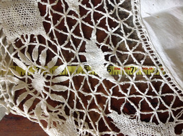 Large Circular Off White Doily Creative Design 31 Inches Across image 7