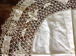 Large Circular Off White Doily Creative Design 31 Inches Across image 2