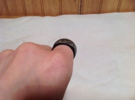 Handcrafted Zig Zag Dotted Wide Band Wooden Ring Sizes 6.5 and 7.5 image 6