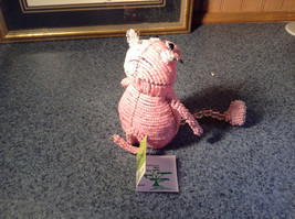 Handcrafted Pink Beadworx Pig Wire Sculpture Grass Roots Measurements Below image 5