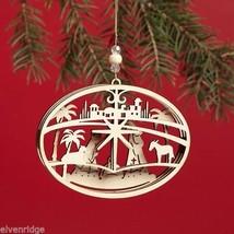 Laser Wood Ornament Flourish  Nativity image 2
