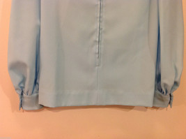 Handmade Baby Blue Long Sleeve Blouse Build-in Tie Bow , NO Size tag image 6
