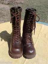 "SODA Dome Toe;Lace-Up Zipper Mid-Calf Boots;Size 7;3"" Heel;Brown;Hiking;... - $14.99"