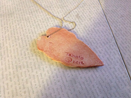 Handmade Flat Ceramic Tomato Leaf Pendant Necklace Sterling Silver Chain image 4