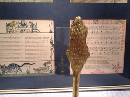 Handmade Gold Tone Brass Bell Indian Goddess on Hilt Vintage Look image 4