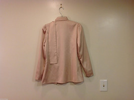 Handmade Pastel Cream Blouse Asymmetrical Button Closure and Tie, NO Size tag image 2