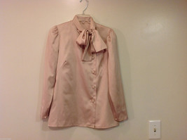 Handmade Pastel Cream Blouse Asymmetrical Button Closure and Tie, NO Size tag image 3
