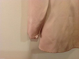 Handmade Pastel Cream Blouse Asymmetrical Button Closure and Tie, NO Size tag image 6