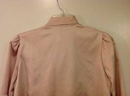 Handmade Pastel Cream Blouse Asymmetrical Button Closure and Tie, NO Size tag image 7