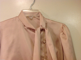 Handmade Pastel Cream Blouse Asymmetrical Button Closure and Tie, NO Size tag image 4