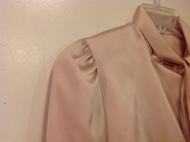 Handmade Pastel Cream Blouse Asymmetrical Button Closure and Tie, NO Size tag image 5