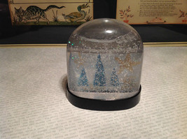 Handmade Snow Globe with Tree Scene with Stars Supports Artist image 2
