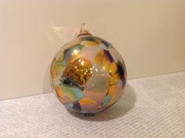 Handmade Recycled Glass Chirstmas Ball Ornament Very Beautiful image 2