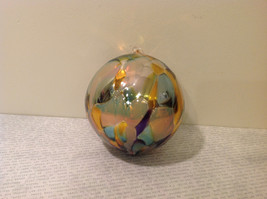 Handmade Recycled Glass Chirstmas Ball Ornament Very Beautiful image 3