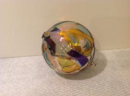 Handmade Recycled Glass Chirstmas Ball Ornament Very Beautiful image 5