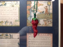 Handmade Beaded Chili Pepper Ornament Decoration Red and Green image 6