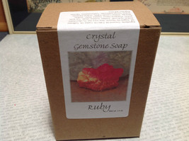 Handmade Ruby Crystal Gemstone Soap Red image 7