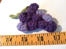Handmade Knitted Pin Brooch Violet Purple Grapes Design image 5