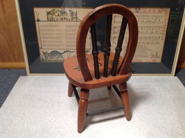 Handmade Small Decorative Wooden Chair Flower on Seat image 5