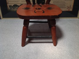Handmade Small Decorative Wooden Chair Flower on Seat image 4