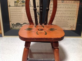 Handmade Small Decorative Wooden Chair Flower on Seat image 2