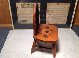 Handmade Small Decorative Wooden Chair Flower on Seat image 6
