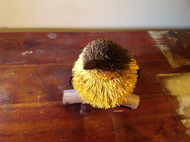 Handmade Yellow Bird Buri Palm Fiber Brush Decoration Eco Fiber Sustainable image 2