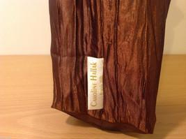Handmade by Caroline Hallak NEW Personal Touch Gift Wine Bag Bronze Brown image 3