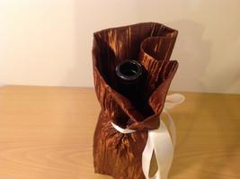 Handmade by Caroline Hallak NEW Personal Touch Gift Wine Bag Bronze Brown image 4