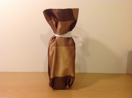 Handmade by Caroline Hallak NEW Personal Touch Gift Wine Bag Gold Brown image 2